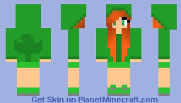 Leprechaun Girl!!! ST PATRICKS DAY! --•Golden•Forever•-- Minecraft Skin