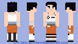 Chell - Portal 2 Minecraft Skin
