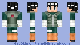Naruto Shippuden Rock Lee Minecraft Skin - Skins para minecraft pe de rock