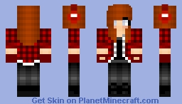 Redhead Rebel girl Minecraft Skin