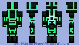 [1.8] Glowing warrior thing Minecraft Skin