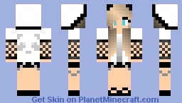 Blond Long Hair Blue Eyes Girl Minecraft Skin