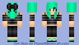 Mint green scene girl ♥ Minecraft Skin