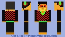 Black and Red Guy Minecraft Skin