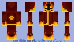 Xan the (Insane) Pyromancer Minecraft Skin
