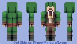 Assassin's Creed: Untiy- Green Robes + Updated Hood Minecraft Skin