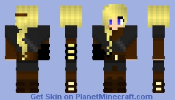 Anakin Skywalker STAR WARS  girl version Minecraft Skin