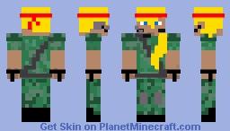 Combat Girl Minecraft Skin