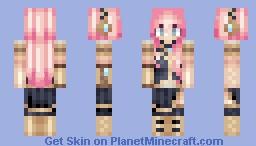 Megurine Luka - vocaloid Minecraft Skin