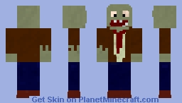Plants vs Zombies - Zombie Minecraft Skin