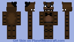 Freddy Fazbear Remake Minecraft Skin
