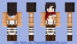 ♥Fangirl♥ Mikasa Minecraft Skin