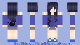 Cute blue gurl Xd Minecraft