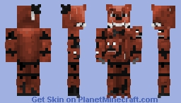 Nightmare Freddy (FNAF 4) Better in 3-D Minecraft Skin