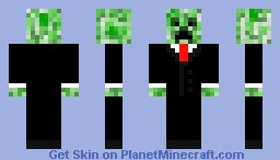 Tuxedo Creeper Minecraft Skin