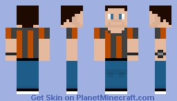 The skin with a beard and watch Minecraft Skin