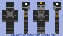 Wolfenstein : The New Order | Black Guard Minecraft Skin