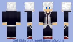 School Boy (White Hair) Minecraft Skin