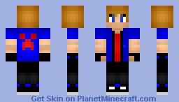 Blue Teen Minecraft Skin