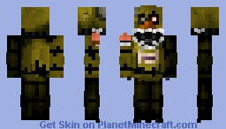 Nightmare Chica (FNAF 4) Minecraft Skin