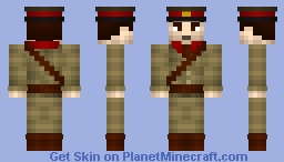 WWI British Officer Minecraft Skin