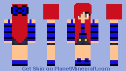 awesome beautiful red head girl Minecraft Skin