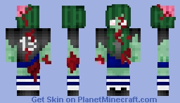 Zombie Soccer (Football) Player Girl Minecraft Skin
