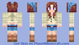 Villager Girl. Friends who play together, skin together! Minecraft Skin