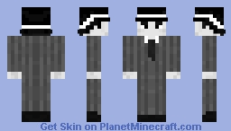 Business in Black and White Minecraft Skin