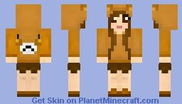 Rilakkuma Girl Minecraft Skin