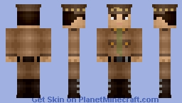 Fallout: General Oliver Lee Minecraft Skin