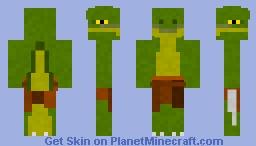 Reptilian Warrior (for skin battle with legius400) Minecraft Skin