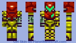 Samus Aran (Removable Power Suit) Minecraft Skin