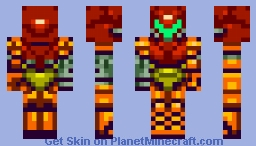 Samus Varia Suit (Changeable to Power Suit In Game) Minecraft Skin