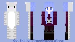 ۞naomi۞ half cat girl Minecraft Skin