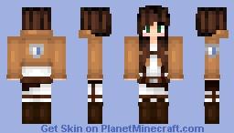 ~ Attack on Titan Scout Regiment Girl ~ Minecraft Skin