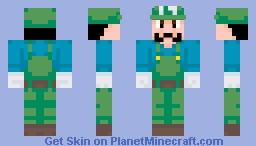 Luigi - Super Mario bros. super show! Minecraft Skin