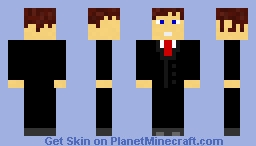 Man With Suit Minecraft Skin