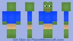 Rare Sad Pepe Minecraft Skin