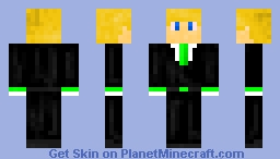 Mr. in a Suit Minecraft Skin