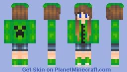 ⇔∴κζωζ∴⇔  Creeper Girl {Series - Mob Girls} Minecraft Skin
