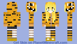 Tiger Matryoshka Girl Minecraft Skin