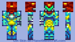 Samus Aran Fusion Suit (Removable Suit) Minecraft Skin
