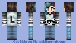 Leostereo Fan Girl (3D Viewing fixed) Minecraft Skin