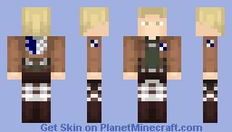 AoT ➢ Reiner Braun ✯Survey Corps✯ Minecraft Skin
