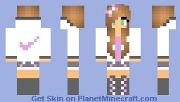 Really Cute Nike Girl Minecraft Skin