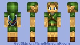 Young Link: Majora's Mask Minecraft Skin