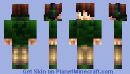 Blue-Green Hoodie Minecraft Skin