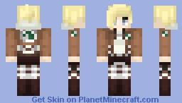 AoT ➢ Annie Leonhardt ✯Military Police✯ Minecraft Skin
