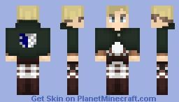 AoT ➢ Erwin Smith ✯Survey Corps Cape✯ Minecraft Skin